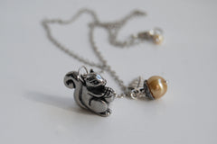 Happy Squirrel Necklace