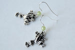 Silver Frog Earrings | Frog Charm Earrings | Cute Frog Jewelry - Enchanted Leaves - Nature Jewelry - Unique Handmade Gifts
