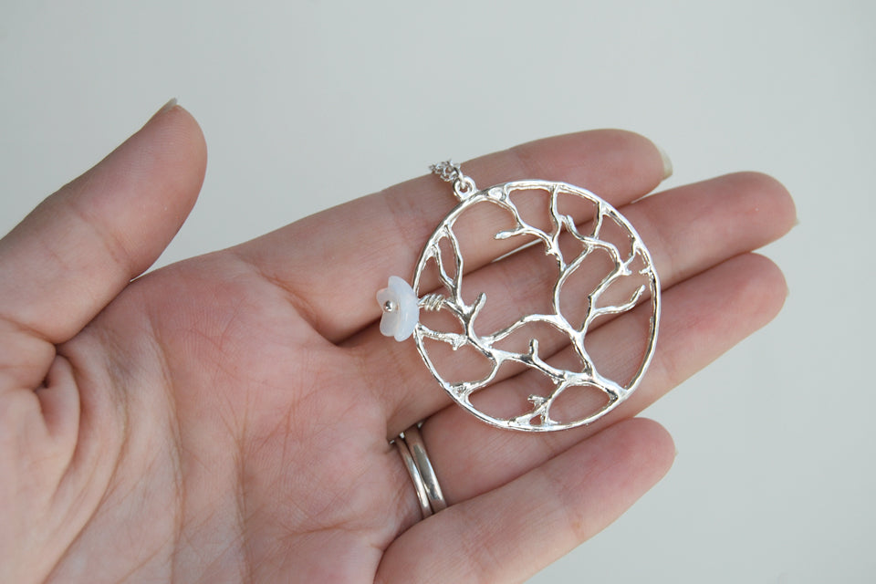 White Tree of Gondor - Enchanted Leaves - Nature Jewelry - Unique Handmade Gifts