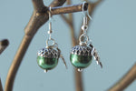 Silver Acorn Earrings | Pearl or Gemstone Acorn Charm Earrings | Fall Acorn Earrings - Enchanted Leaves - Nature Jewelry - Unique Handmade Gifts