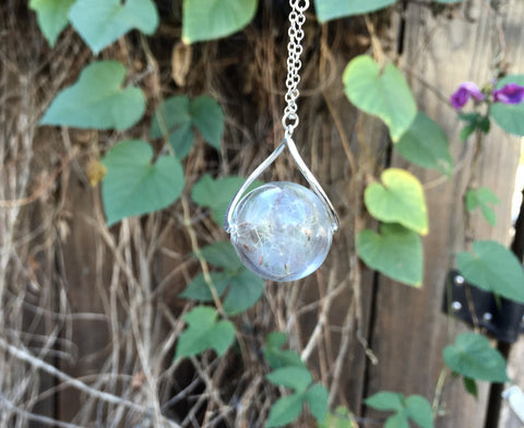 Dandelion Wish Orb Necklace