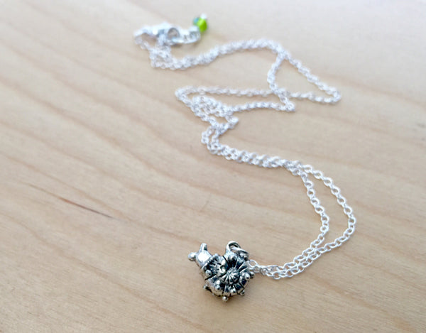 Tiny Garden Snail Necklace | Woodland Forest Slug | Cute Bug Charm Necklace