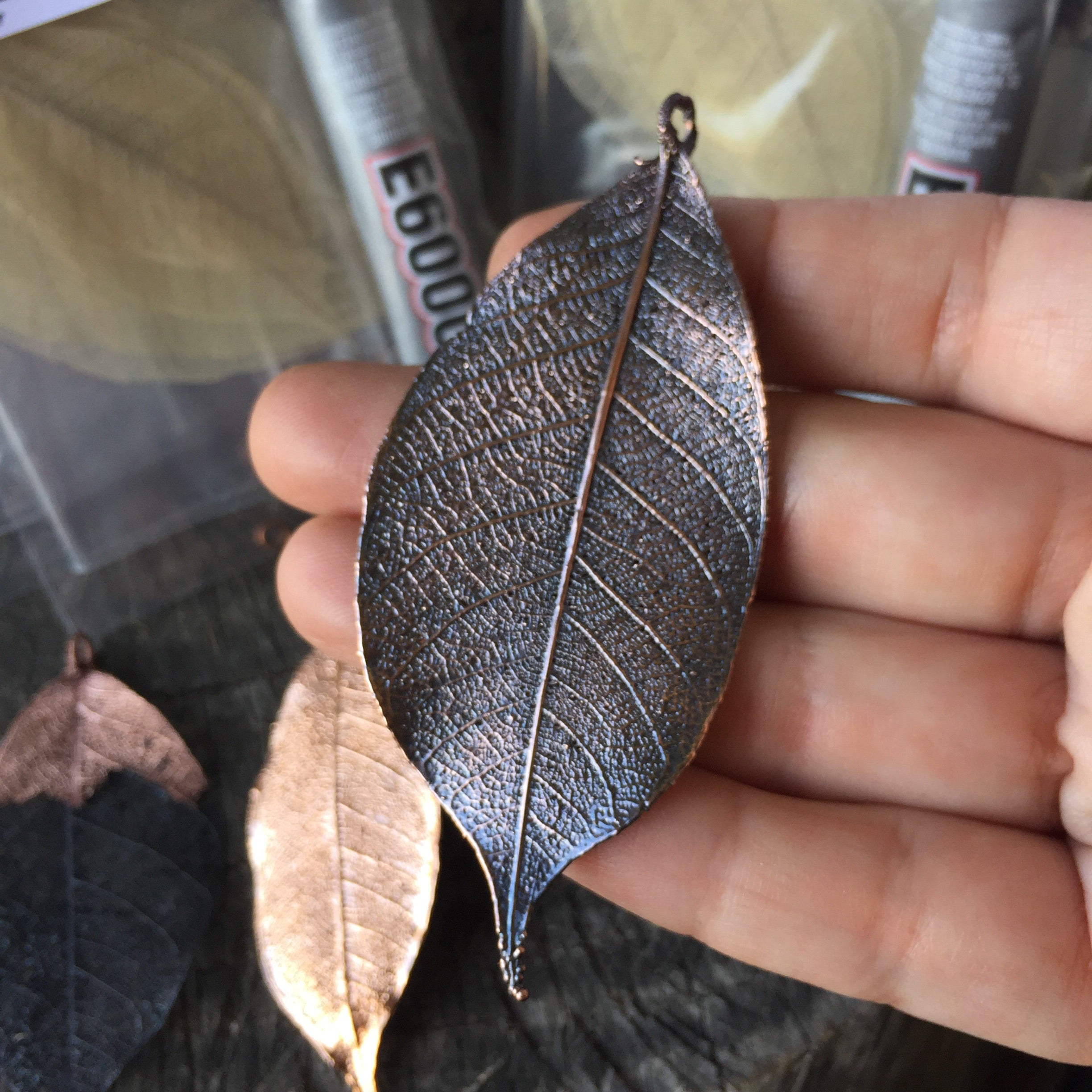 Electroforming Project Kit Add-On | DIY Skeleton Leaf Pendant | Copper Electroforming - Enchanted Leaves - Nature Jewelry - Unique Handmade Gifts