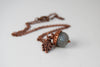 Labradorite and Copper Acorn Necklace
