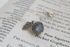 Labradorite and Silver Acorn Necklace