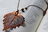 Large Fallen Copper Birch Leaf Necklace  | REAL Birch Leaf Pendant | Copper Electroformed Pendant | Nature Jewelry