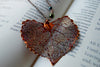 Custom Large Copper Cottonwood Leaf Necklace | REAL Cottonwood Leaf Pendant | Copper Electroformed Pendant | Nature Jewelry - Enchanted Leaves - Nature Jewelry - Unique Handmade Gifts