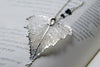 Custom Large Silver Birch Leaf Necklace