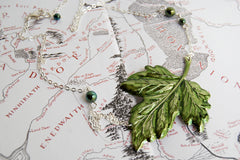 Leaves of Lórien | Green Ivy Leaf Necklace | Lord of the Rings Necklace | Forest Jewelry