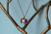 Lilac and Copper Pearl Acorn Necklace