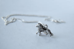 Little Lion Necklace | Silver Lion Charm Necklace | Wild Animal Pendant