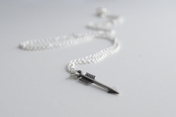 Little Silver Arrow Necklace | Arrow Charm Necklace | Boho Jewelry - Enchanted Leaves - Nature Jewelry - Unique Handmade Gifts