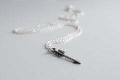 Little Silver Arrow Necklace