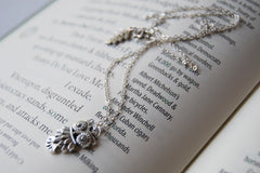 Little Owl Necklace | Woodland Silver Owl Charm Necklace | Fall Jewelry