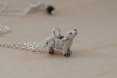 Direwolf Pup Necklace | Cute Wolf Charm Necklace | Handmade Pendant