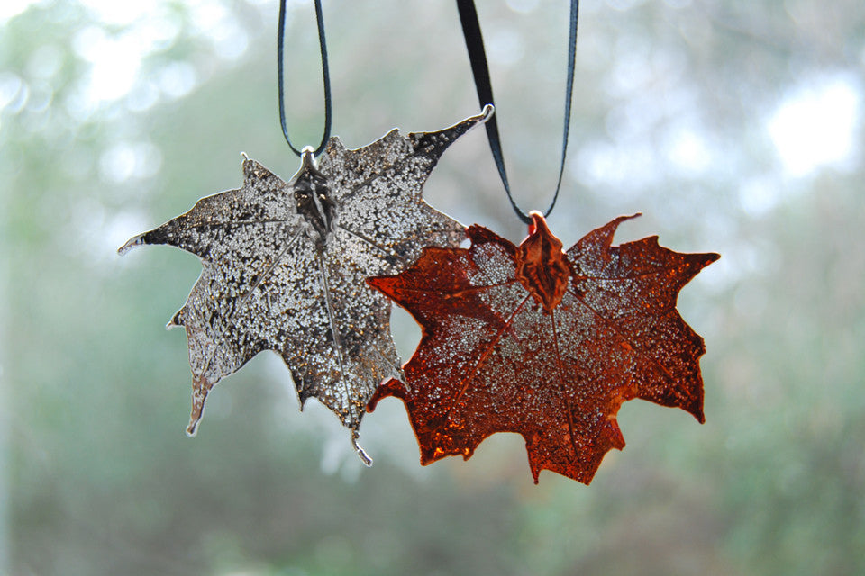 real maple leaf ornament electroformed nature fall leaf ornament enchanted leaves real maple leaf ornament electroformed nature fall leaf ornament nature gift