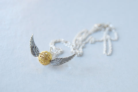 Mini Golden Snitch Necklace