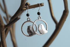 Minimal Silver Bird Earrings | Bird Charm Earrings | Cute Bird Jewelry