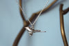 Silver Mocking Bird Necklace