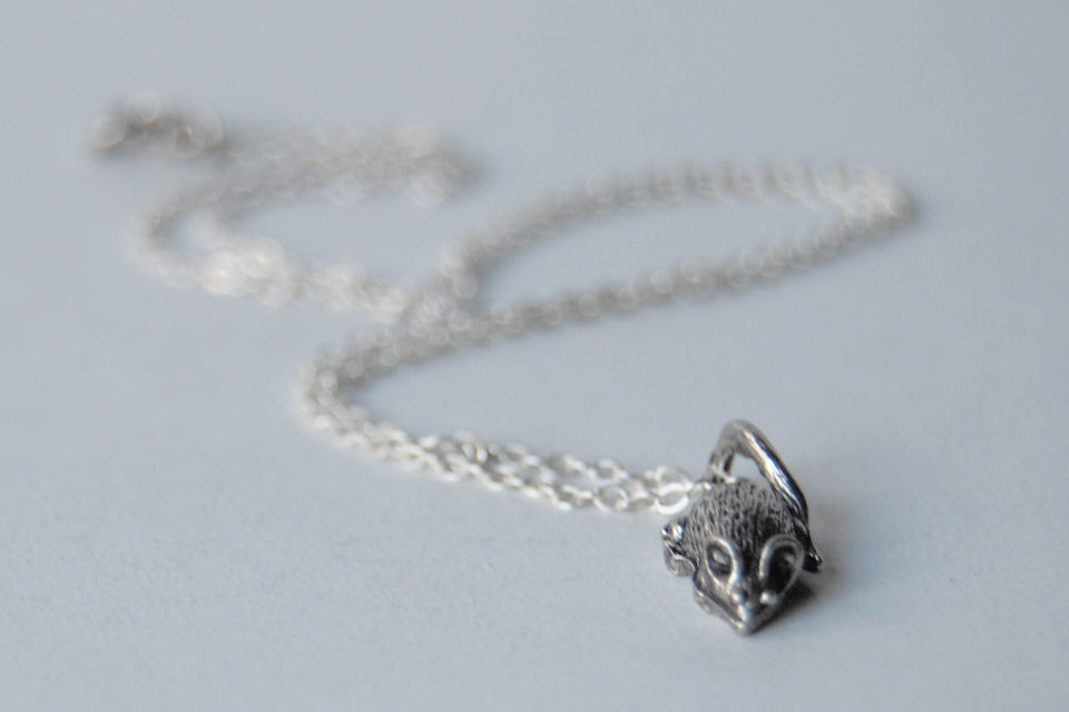 Teeny Tiny Mouse Necklace | Cute Little Silver Mouse Charm Necklace | Rat Necklace - Enchanted Leaves - Nature Jewelry - Unique Handmade Gifts