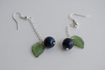 Nightlock Earrings | Hunger Games Jewelry | Berry Earrings - Enchanted Leaves - Nature Jewelry - Unique Handmade Gifts