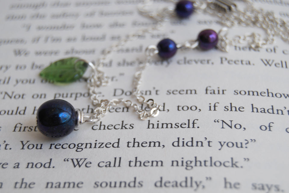 Nightlock Necklace | Hunger Games Jewelry | Berry Charm Necklace - Enchanted Leaves - Nature Jewelry - Unique Handmade Gifts