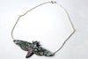 Pink Spotted Hawk Moth Necklace