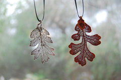 Real Oak Leaf Ornament  | Electroformed Nature | Fall Leaf Ornament | Nature Gift