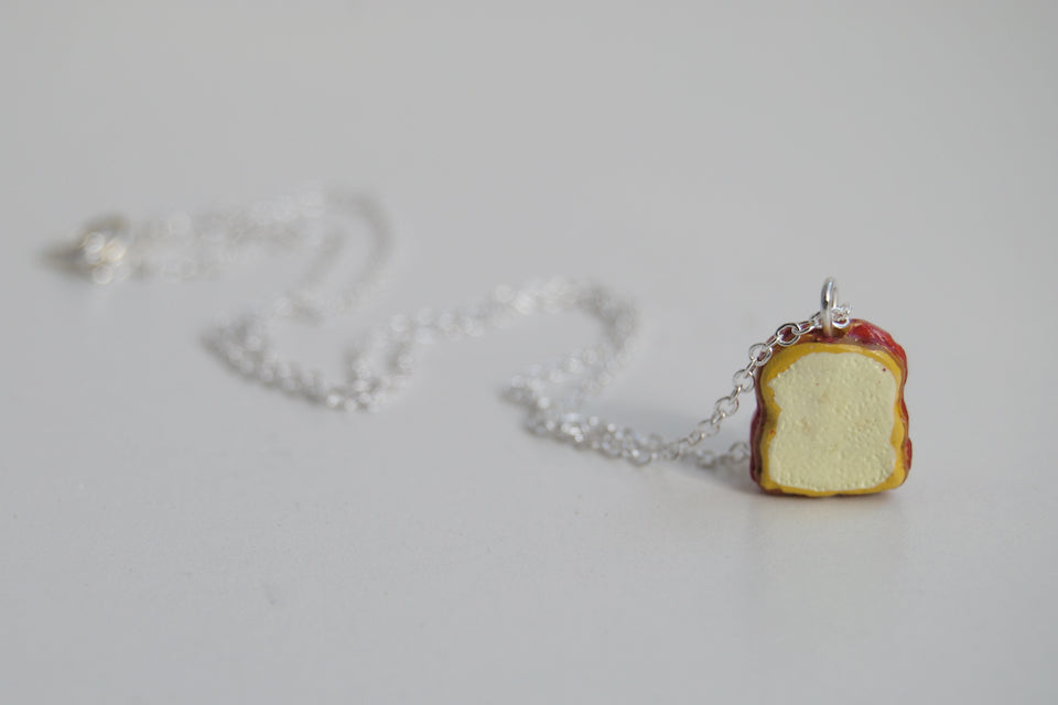 It's Peanut Butter Jelly Time! | Sandwich Charm Necklace - Enchanted Leaves - Nature Jewelry - Unique Handmade Gifts