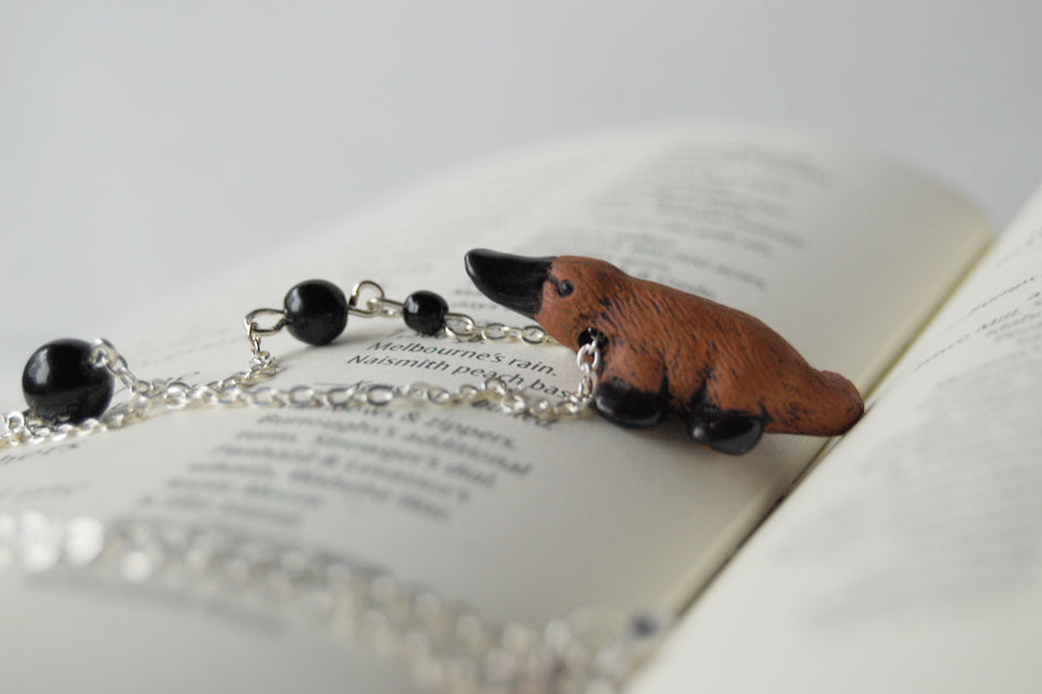 Darling Platypus Necklace | Handmade Platypus Pendant | Cute Platypus Necklace - Enchanted Leaves - Nature Jewelry - Unique Handmade Gifts