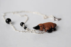 Darling Platypus Necklace | Handmade Platypus Pendant | Cute Platypus Necklace