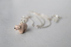 Little Polar Bear Necklace | Bear Charm Necklace | Wild Animal Jewelry