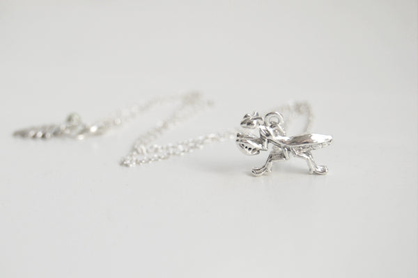 Praying Mantis Necklace | Cute Praying Mantis Charm Necklace | Insect Jewelry - Enchanted Leaves - Nature Jewelry - Unique Handmade Gifts