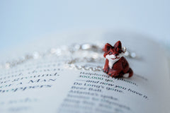 Little Red Fox Necklace | Fox Charm Necklace | Woodland Fox Jewelry