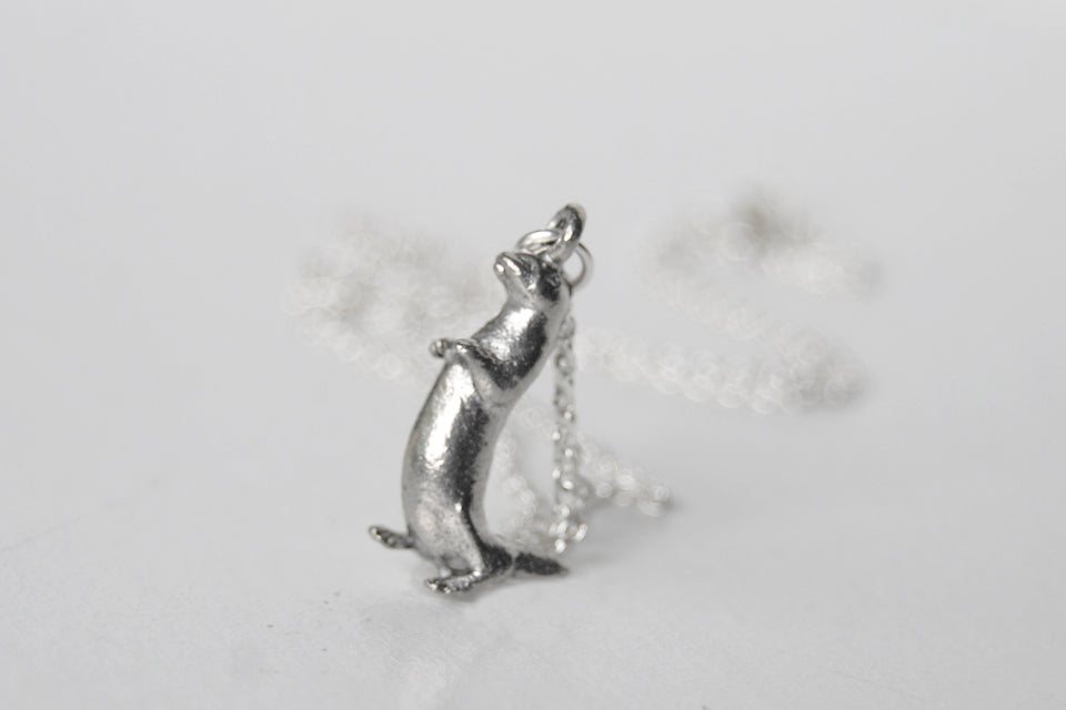 River otter necklace cute silver otter charm necklace otter river otter necklace cute silver otter charm necklace otter pendant aloadofball Image collections