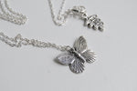 Lovely Little Butterfly Necklace | Silver Butterfly Charm Necklace | Cute Butterfly Pendant - Enchanted Leaves - Nature Jewelry - Unique Handmade Gifts