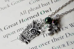 Forest Owl Necklace | Silver Owl Charm | Cute Owl Necklace
