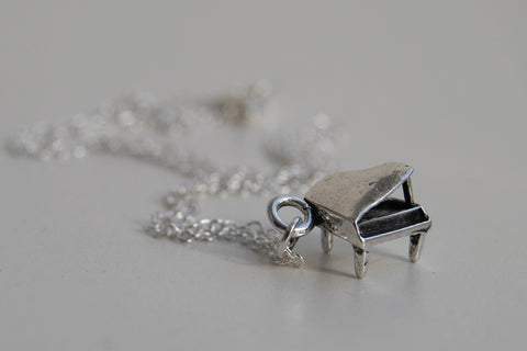 Teeny Piano Necklace