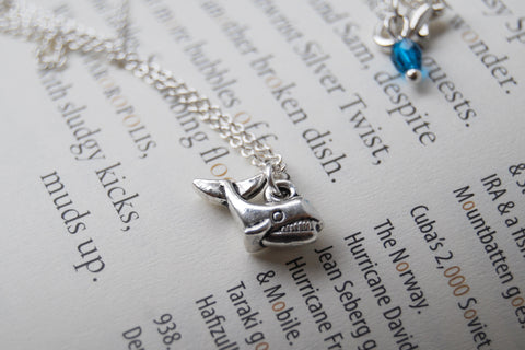Little Silver Whale Necklace | Tiny Whale Charm Necklace | Nautical Jewelry