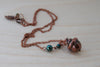 Custom Fallen Copper Acorn Necklace