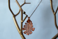 Custom Medium Copper Oak Leaf Necklace