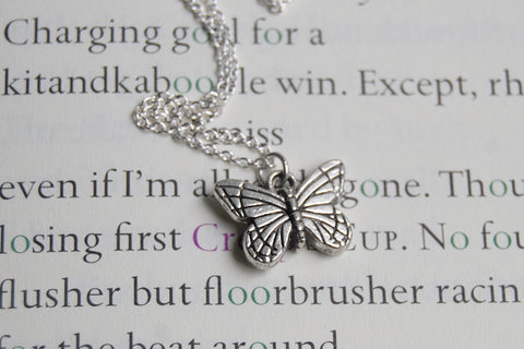 Small Silver Butterfly Necklace
