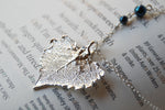 Small Silver Cottonwood Leaf Necklace | REAL Cottonwood Leaf Pendant | Silver Electroformed Pendant | Nature Jewelry - Enchanted Leaves - Nature Jewelry - Unique Handmade Gifts