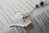 Small Silver Cottonwood Leaf Necklace