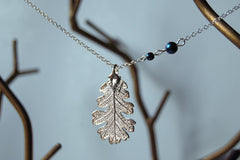 Custom Medium Silver Oak Leaf Necklace