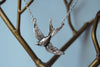 Swooping Swallow Necklace - Enchanted Leaves - Nature Jewelry - Unique Handmade Gifts
