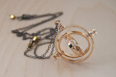 Golden Time Turner Necklace | Hermione Granger Cosplay | Harry Potter Necklace