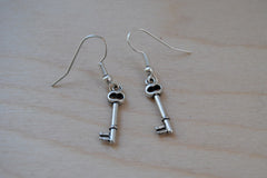 Tiny Skeleton Key Earrings
