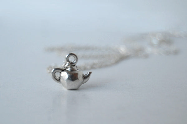 Tiniest Teapot Necklace - Enchanted Leaves - Nature Jewelry - Unique Handmade Gifts