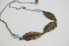 Triple Brass Feather Necklace